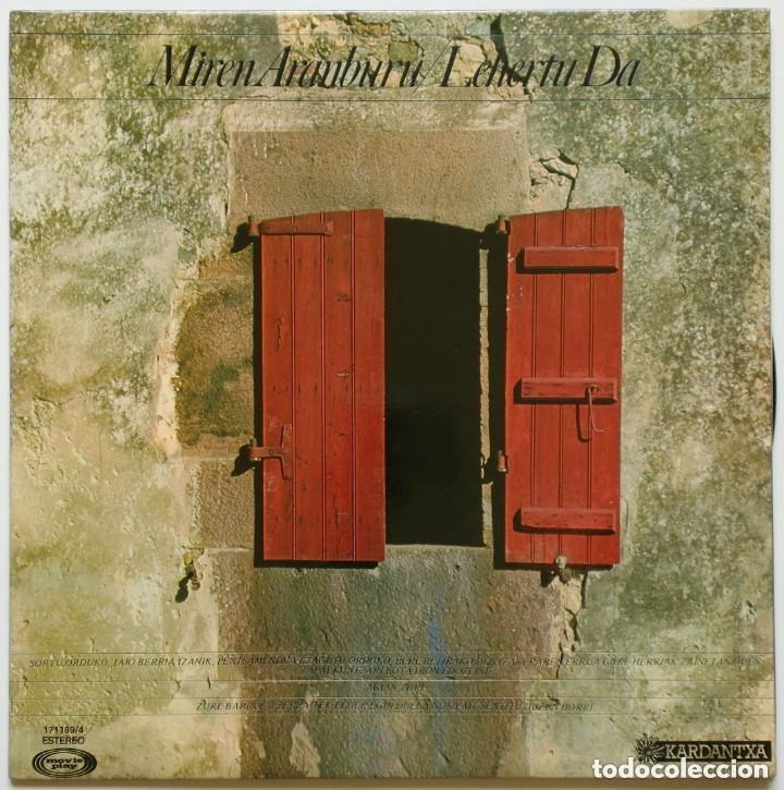 LP: MIREN ARANBURU: LEHERTU DA - LP (1977) - BASQUE - FOLK // W/INSERT (Música - Discos - LP Vinilo - Solistas Españoles de los 70 a la actualidad)