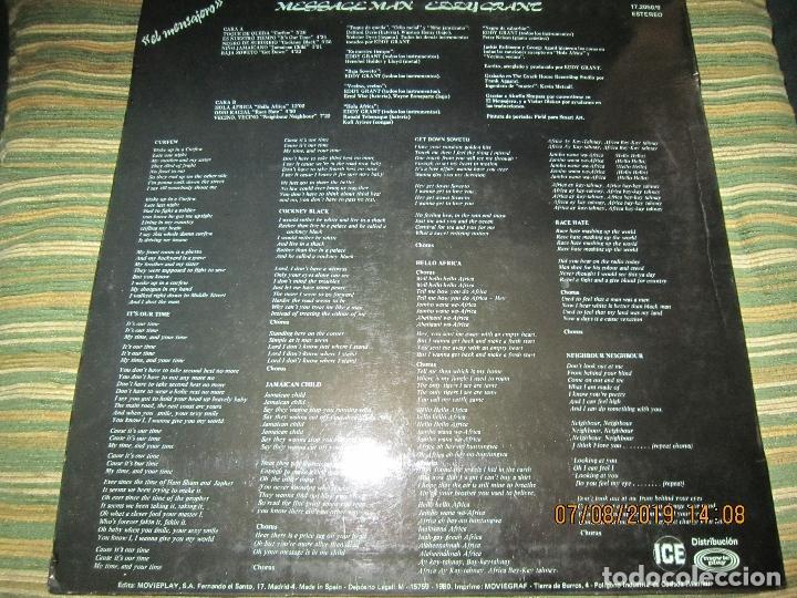 Discos de vinilo: EDDY GRANT - MESSAGE MAN LP - ORIGINAL ESPAÑOL - ICE RECORDS1980 - BUEN ESTADO - - Foto 2 - 173274517