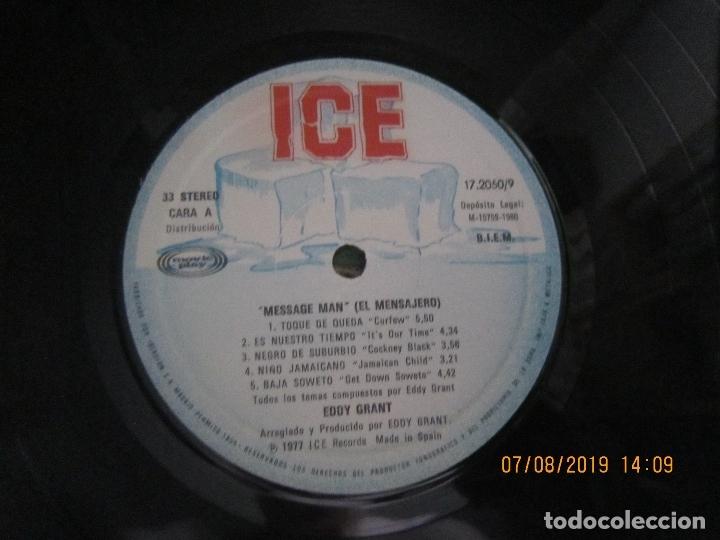 Discos de vinilo: EDDY GRANT - MESSAGE MAN LP - ORIGINAL ESPAÑOL - ICE RECORDS1980 - BUEN ESTADO - - Foto 6 - 173274517
