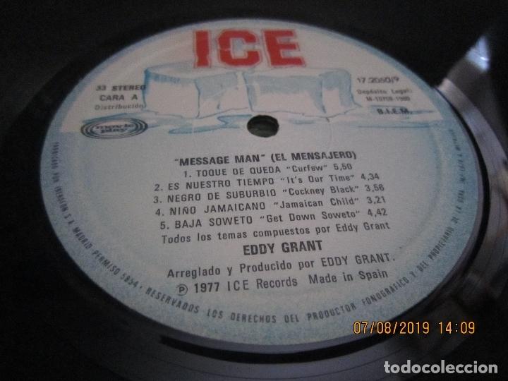 Discos de vinilo: EDDY GRANT - MESSAGE MAN LP - ORIGINAL ESPAÑOL - ICE RECORDS1980 - BUEN ESTADO - - Foto 7 - 173274517