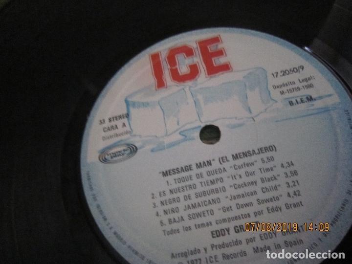 Discos de vinilo: EDDY GRANT - MESSAGE MAN LP - ORIGINAL ESPAÑOL - ICE RECORDS1980 - BUEN ESTADO - - Foto 8 - 173274517