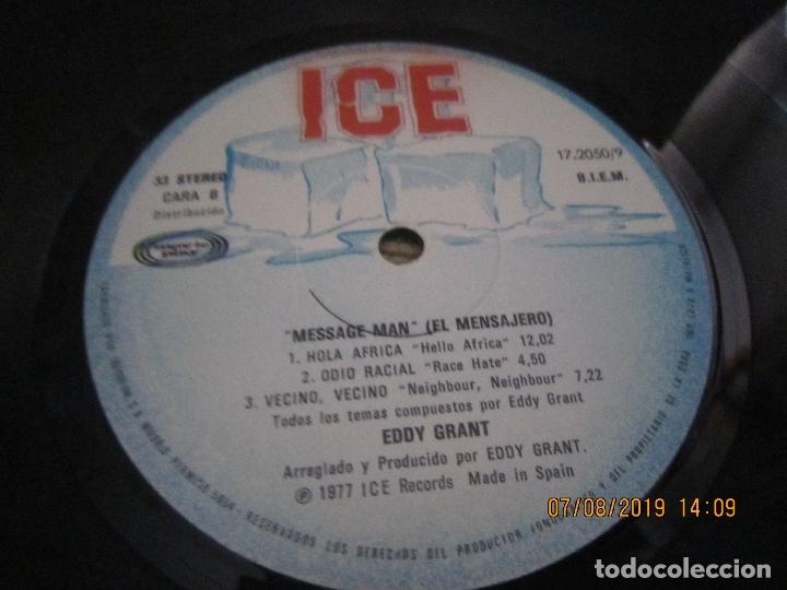 Discos de vinilo: EDDY GRANT - MESSAGE MAN LP - ORIGINAL ESPAÑOL - ICE RECORDS1980 - BUEN ESTADO - - Foto 9 - 173274517