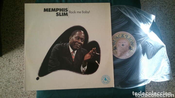 MEMPHIS SLIM LP ROCK ME BABY 1975 VG+ BLUES ROCK (Música - Discos - LP Vinilo - Jazz, Jazz-Rock, Blues y R&B)