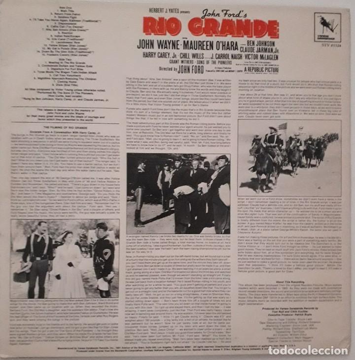 Discos de vinilo: RIO GRANDE. VICTOR YOUNG. JOHN FORD - Foto 2 - 173280944