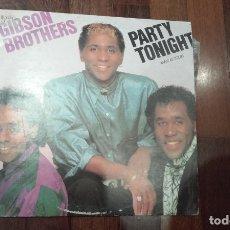 Discos de vinilo: GIBSON BROTHERS-PARTY TONIGHT.MAXI. Lote 254795440
