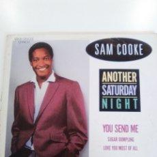 Discos de vinilo: SAM COOKE ANOTHER SATURDAY NIGHT + 3 ( 1986 RCA EU ). Lote 173345579