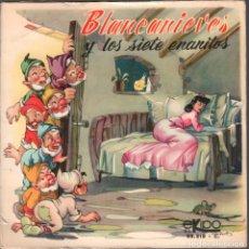Discos de vinilo: BLANCANIEVES Y LOS SIETE ENANITOS SINGLE CUENTO PORTADA ABIERTA EKIPO RF-4014. Lote 173366599