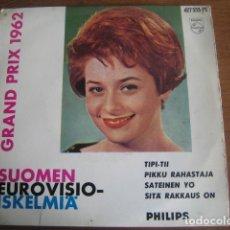 Discos de vinilo: MARION RUNG - RARO EP FINLANDIA EUROVISION 1962. Lote 173368605