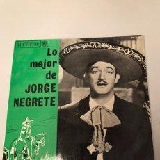 Discos de vinilo: LP - LO MEJOR DE JORGE NEGRETE. Lote 173370247