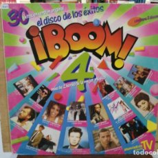 Discos de vinilo: ¡BOOM! 4 (RECOPILATORIO) - DURAN DURAN, ILEGALES, CASAL... - DOBLE LP DEL SELLO EMI 1988. Lote 173379644