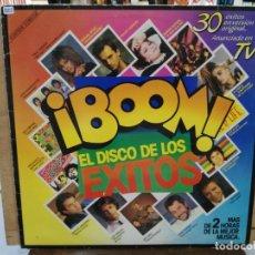 Discos de vinilo: ¡BOOM! EL DISCO DE LOS ÉXITOS (RECOPILATORIO) - MECANO, GARY LOW, IVÁN.. - DOBLE LP. SELLO EMI 1985 . Lote 173379915