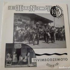 Discos de vinilo: BHUNDU BOYS - KUPEDZA MUTO- SPAIN PROMO SINGLE 1988- COMO NUEVO.. Lote 173385409