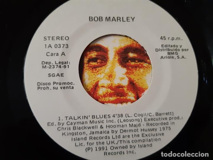 Discos de vinilo: BOB MARLEY & THE WAILERS - TALKIN BLUES - SPAIN PROMO SINGLE 1991- COMO NUEVO. - Foto 3 - 173385804
