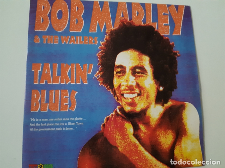 BOB MARLEY & THE WAILERS - TALKIN' BLUES - SPAIN PROMO SINGLE 1991- COMO NUEVO. (Música - Discos - Singles Vinilo - Reggae - Ska)