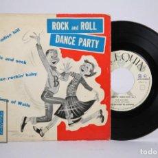 Discos de vinilo: DISCO EP DE VINILO - ROCK AND ROLL DANCE PARTY / PARADISE HILL, HIDE AND SEEK...- ARLEQUIN- AÑO 1961. Lote 173386378