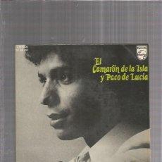 Discos de vinilo: CAMARON ISLA PACO LUCIA UNA GITANA MORENA. Lote 173389865