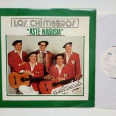 Discos de vinilo: LP: LOS CHIMBEROS - ASTE NAGUSIA (M60, 1989) 50 ANIVERSARIO - HIMNO ATHLETIC CLUB BILBAO BILBAINADAS. Lote 173397084