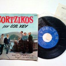 Discos de vinilo: LOS XEY - ZORTZIKOS (BELTER, 1961) EN EL MONTE GORBEA - MAITETXU MÍA - NORTXU -LA DEL PAÑUELO ROJO. Lote 173401203