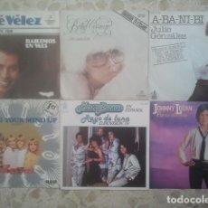 Discos de vinilo: FESTIVAL DE EUROVISIÓN - LOTE DE 6 DISCOS - SINGLES - AÑOS 70 / 80. Lote 173403260