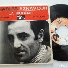 Discos de vinilo: CHARLES AZNAVOUR - LA BOHEME +3 - EP FRANCES BARCLAY 1965. Lote 173404750