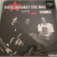 Discos de vinilo: LP ÁLBUM DISCO VINILO RAGE AGAINST THE MACHINE LIVE IN IRVINE 1995 NUEVO. Lote 173430689