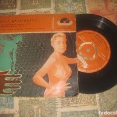 Discos de vinilo: PAULE DESJARDINS / SENTIMENTAL STRIP-TEASE / COMME TU ME PLAIS (1959 -POLYDOR) OG ESPAÑA. Lote 173440329