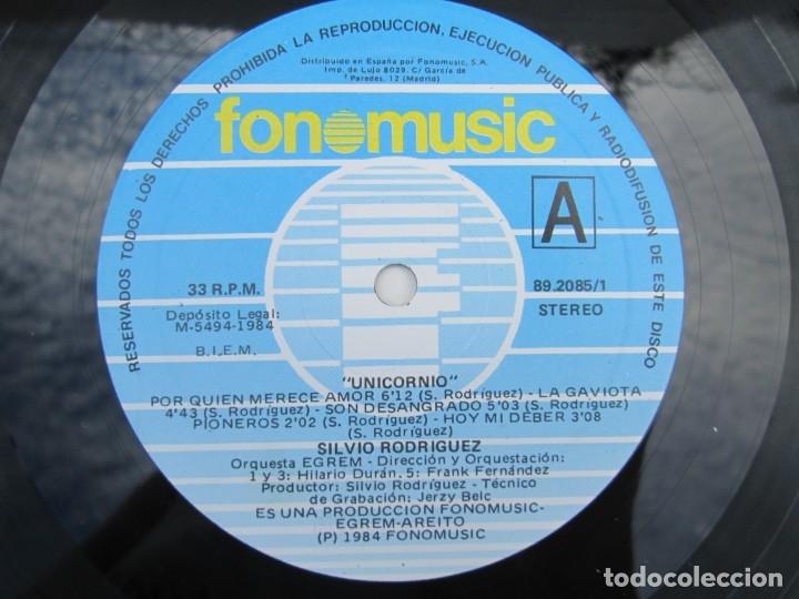 Discos de vinilo: SILVIO RODRIGUEZ. UNICORNIO. LP VINILO. FONOMUSIC. 1986. VER FOTOGRAFIAS ADJUNTAS - Foto 4 - 173446197