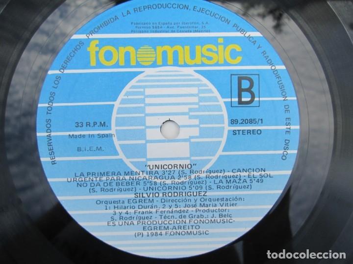 Discos de vinilo: SILVIO RODRIGUEZ. UNICORNIO. LP VINILO. FONOMUSIC. 1986. VER FOTOGRAFIAS ADJUNTAS - Foto 6 - 173446197