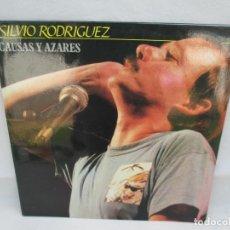 Discos de vinilo: SILVIO RODRIGUEZ. CAUSAS Y AZARES. LP VINILO. FONOMUSIC. 1986. VER FOTOGRAFIAS ADJUNTAS. Lote 173446568