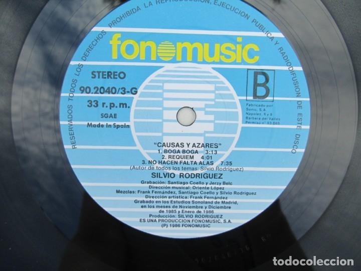 Discos de vinilo: SILVIO RODRIGUEZ. CAUSAS Y AZARES. LP VINILO. FONOMUSIC. 1986. VER FOTOGRAFIAS ADJUNTAS - Foto 9 - 173446568