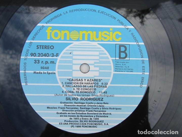 Discos de vinilo: SILVIO RODRIGUEZ. CAUSAS Y AZARES. LP VINILO. FONOMUSIC. 1986. VER FOTOGRAFIAS ADJUNTAS - Foto 13 - 173446568