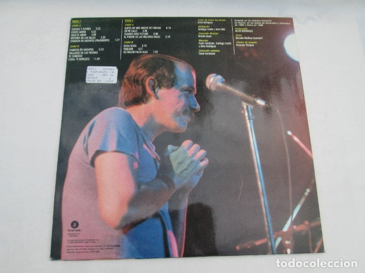 Discos de vinilo: SILVIO RODRIGUEZ. CAUSAS Y AZARES. LP VINILO. FONOMUSIC. 1986. VER FOTOGRAFIAS ADJUNTAS - Foto 14 - 173446568