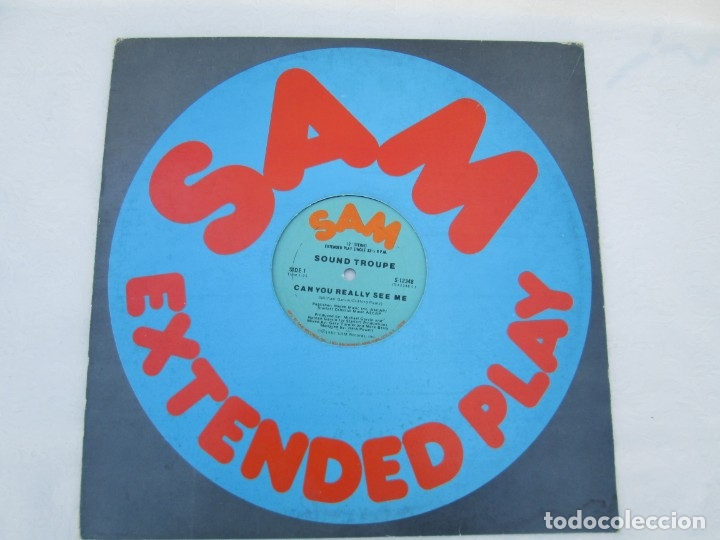 Discos de vinilo: SAM. EXTENDED PLAY. SOUND TROUPE. CAN YOU REALLY SEE ME. SINGLE VINILO. 1982 SAM RECORDS - Foto 2 - 173451988