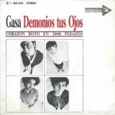 Discos de vinilo: DEMONIOS TUS OJOS, CORAZON ROTO EN..., (GASA 1988) -PROMO-. Lote 173457660