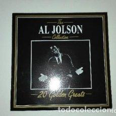 Discos de vinilo: THE AL JOLSON COLLECTION 20 GOLDEN GREATS LP DEJA VU 1987. Lote 173459804