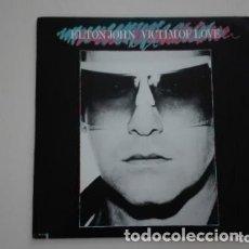 Discos de vinilo: ELTON JOHN LP VICTIM OF LOVE MCA 1979 USA. Lote 173460017