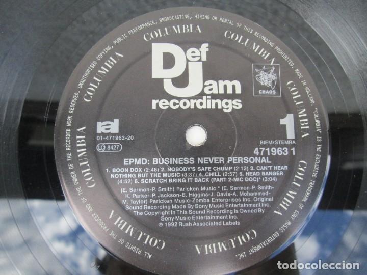 Discos de vinilo: EPMD. BUSINESS NEVER PERSONAL. LP VINILO. DEF JAM RECORDINGS. 1992. VER FOTOGRAFIAS ADJUNTAS - Foto 4 - 173463590