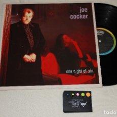 Discos de vinilo: VINILO: JOE COCKER - ONE NIGHT OF SIN - SPAIN/ESPAÑOLA 1989. Lote 173465185