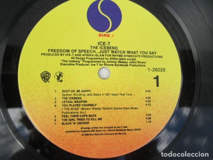 Discos de vinilo: ICE-T. THE ICEBERG. FREEDOM OF SPEECH...JUST WATH WHAT YOU SAY. SIRE RECORDS 1989. VER FOTOGRAFIAS - Foto 4 - 173465377