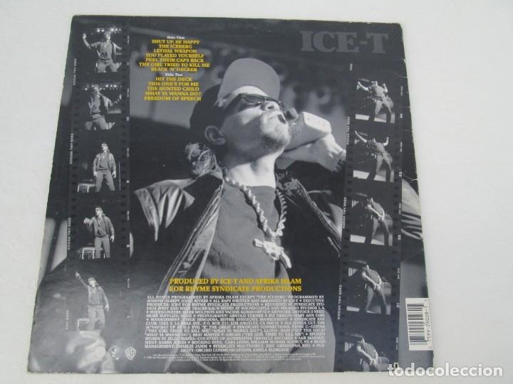 Discos de vinilo: ICE-T. THE ICEBERG. FREEDOM OF SPEECH...JUST WATH WHAT YOU SAY. SIRE RECORDS 1989. VER FOTOGRAFIAS - Foto 8 - 173465377