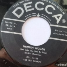 Dischi in vinile: BILL HALLEY AND HIS COMETS - ROCK AROUND THE CLOCK +1 - SINGLE USA DECCA 1955. Lote 173472660