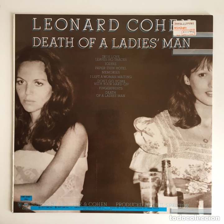 Discos de vinilo: LP - LEONARD COHEN - Dead of a Ladies' man - Foto 2 - 173472895