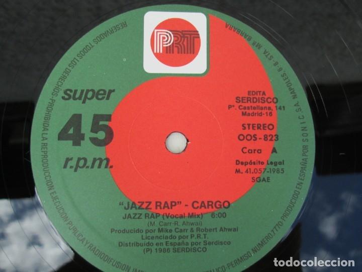 Discos de vinilo: JAZZ RAP VOLUME ONE. CARGO. MAXI SINGLE VINILO. SERDISCO PRT. 1986. ZAFIRO. VER FOTOGRAFIAS - Foto 4 - 173474309