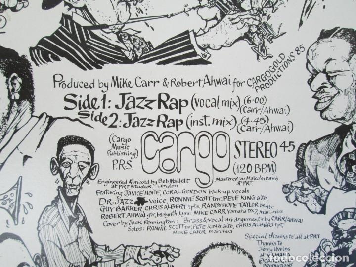 Discos de vinilo: JAZZ RAP VOLUME ONE. CARGO. MAXI SINGLE VINILO. SERDISCO PRT. 1986. ZAFIRO. VER FOTOGRAFIAS - Foto 7 - 173474309