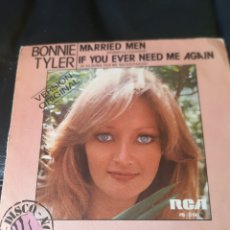 Discos de vinilo: BONNIE TYLER. MARRIED MEN.. Lote 173497623
