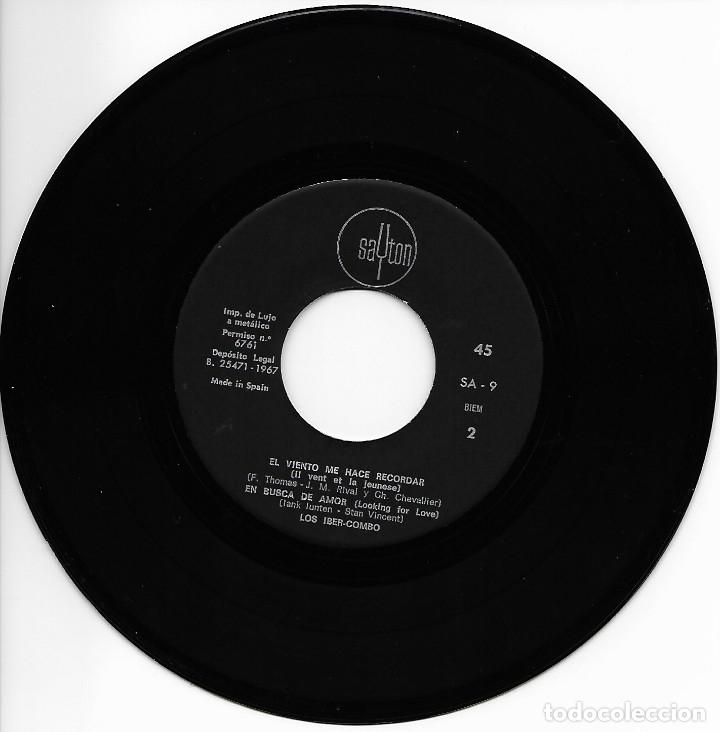 Discos de vinilo: Los Iber-Combo - Hasta Siete / El Silenciador / El Viento Me Hace Recordar / En Busca De Amor - 1967 - Foto 4 - 251722345