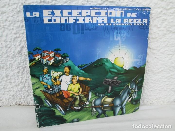 LA EXCEPCION KE CONFIRMA LA REGLA. LP VINILO. ZONA BRUTA 2002. VER FOTOGRAFIAS ADJUNTAS (Música - Discos de Vinilo - Maxi Singles - Rap / Hip Hop)