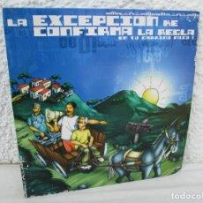 Discos de vinilo: LA EXCEPCION KE CONFIRMA LA REGLA. LP VINILO. ZONA BRUTA 2002. VER FOTOGRAFIAS ADJUNTAS. Lote 173511888