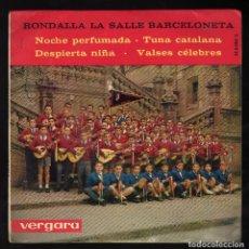Discos de vinilo: RONDALLA LA SALLE BARCELONETA: NOCHE PERFUMADA / TUNA CATALANA / DESPIERTA NIÑA / VALSES CÉLEBRES. Lote 173522600