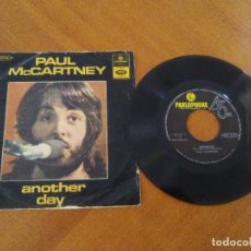 Discos de vinilo: RARO/JOYA 1º SINGLE PAUL MCCARTNEY.ANOTHER DAY/OH WOMAN, OH WHY.PARLOPHONE 8E 006 04758 M. PORTUGAL. Lote 173525987